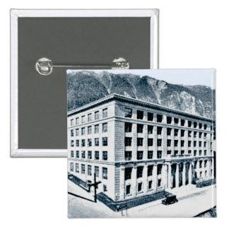 Alaska State Capitol in Juneau Date 1930 Vintage Pinback Button