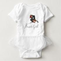 Alaska State Destination Wedding Flower Girl Baby Bodysuit