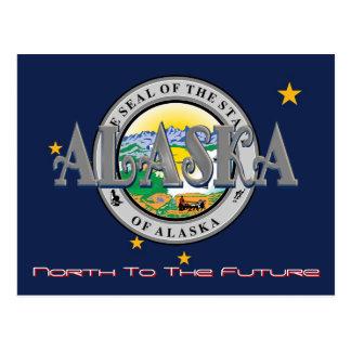 Alaska State Flag And Seal Post Card