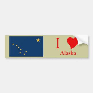 Alaska State Flag Bumper Sticker