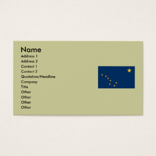 North star business cards templates zazzle alaska state flag business card reheart Choice Image