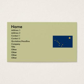 Alaska State Flag Business Card