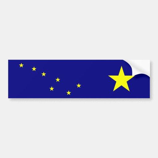 Alaska State Flag Car Bumper Sticker