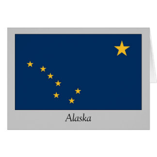 Alaska State Flag Card