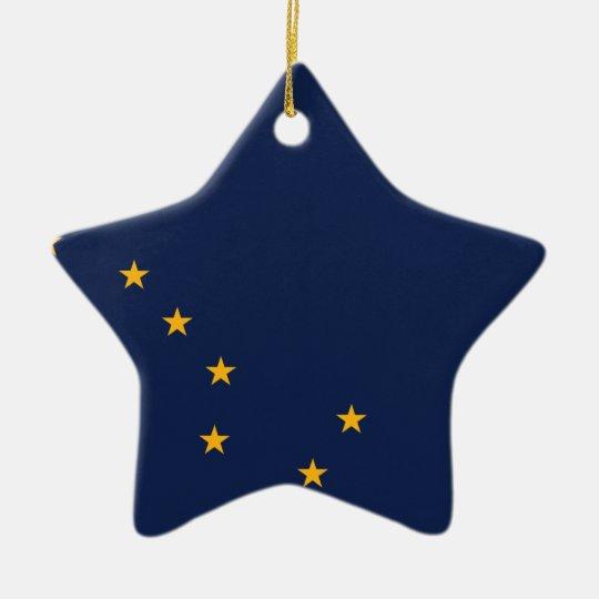 Alaska State Flag Ceramic Ornament