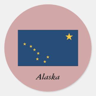 Alaska State Flag Classic Round Sticker