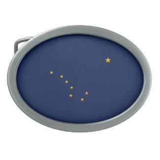 Alaska State Flag Design Oval Belt Buckle