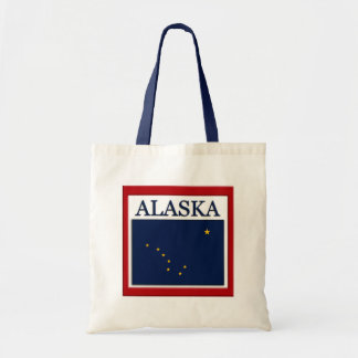 Alaska State Flag Design Budget Canvas Tote Bag