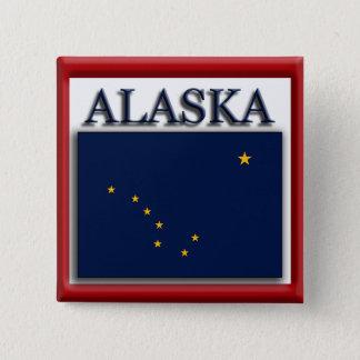 Alaska State Flag Design Button