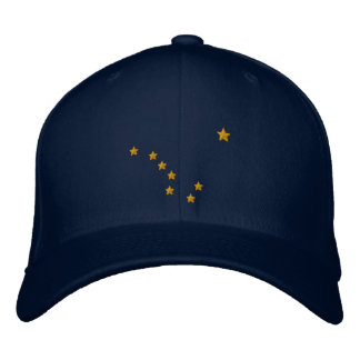Alaska State Flag Design Embroidery Embroidered Baseball Cap