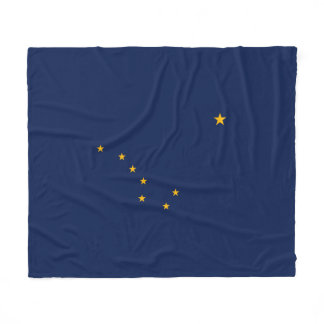 Alaska State Flag Design Fleece Blanket