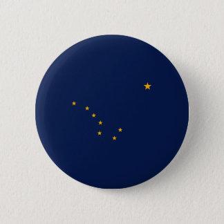 Alaska State Flag Design Pinback Button