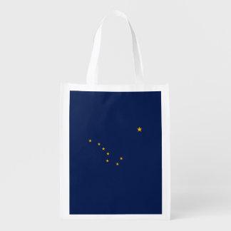 Alaska State Flag Design Grocery Bags