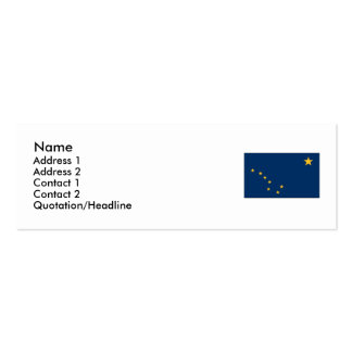 Alaska State Flag Double-Sided Mini Business Cards (Pack Of 20)