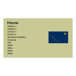 Alaska State Flag Double-Sided Standard Business Cards (Pack Of 100)