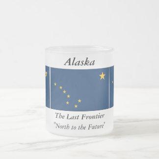 Alaska State Flag Frosted Glass Coffee Mug