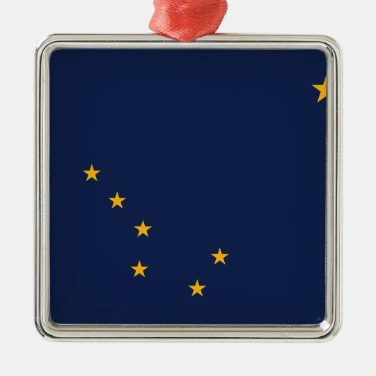 Alaska State Flag Metal Ornament