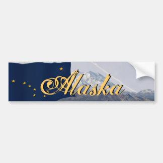 Alaska State Flag Mount McKinley Bumper Sticker