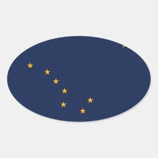 Alaska State Flag Oval Sticker