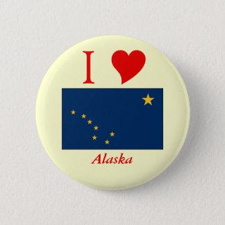 Alaska State Flag Pinback Button