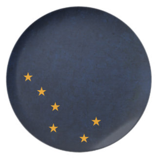 Alaska State Flag Party Plate