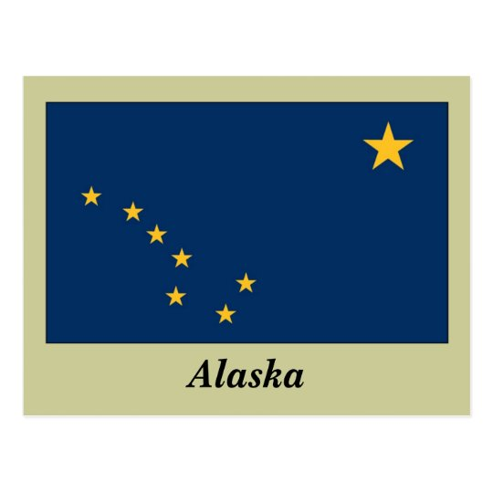 Alaska State Flag Postcard