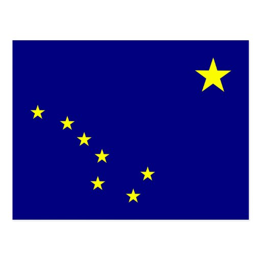 Alaska State Flag Postcards