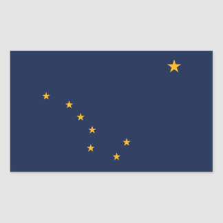 Alaska State Flag Rectangular Sticker