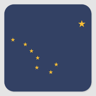 Alaska State Flag Square Sticker