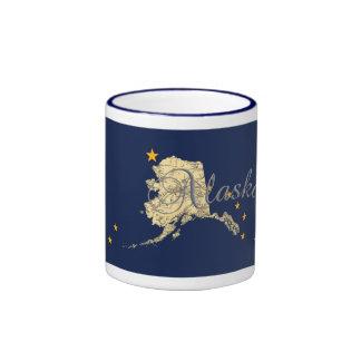 Alaska State Flag State Map Coffee Mug