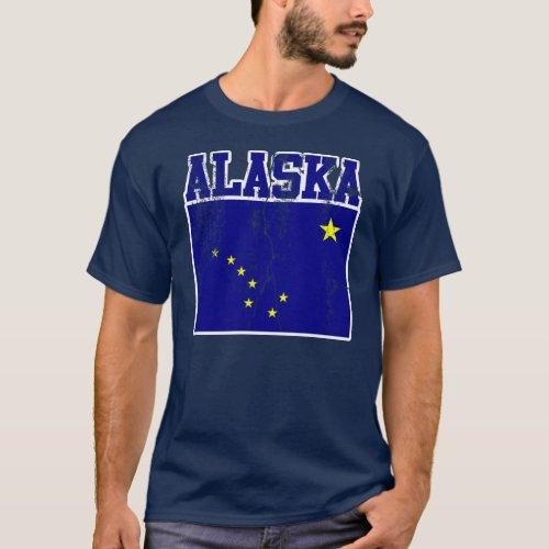 Alaska State Flag T_Shirt Distressed