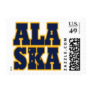 Alaska state flag text postage