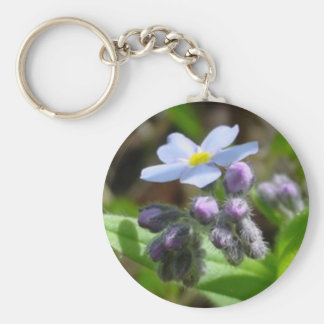 Alaska State Flower Forget-Me-Not Keychain