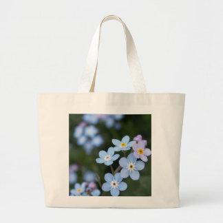 Alaska State Flower Forget me nots, tote Jumbo Tote Bag