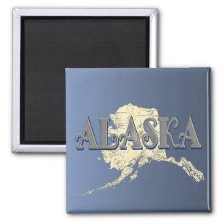 Alaska State Map Magnet