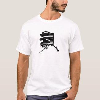 Alaska state outline from senseshaper woodcut T-Shirt