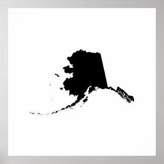 Alaska State Outline Poster