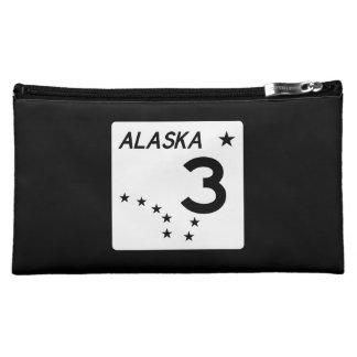Alaska State Route 3 Makeup Bag