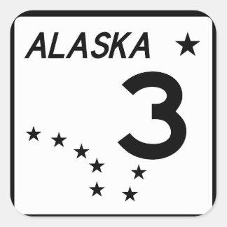 Alaska State Route 3 Square Sticker