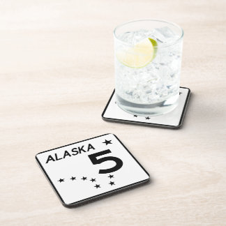 Alaska State Route 5 Drink Coaster