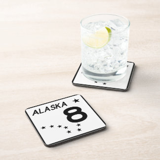 Alaska State Route 8 Beverage Coaster