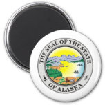 Alaska State Seal 2 Inch Round Magnet