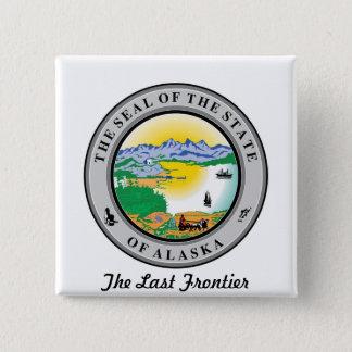 Alaska State Seal and Motto Button