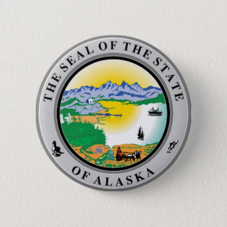 Alaska State Seal and Motto Pinback Button