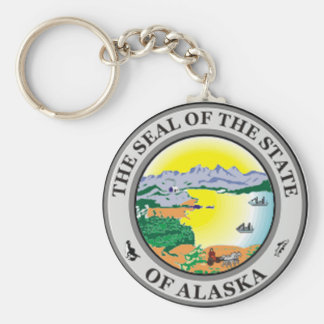 Alaska State Seal Keychain