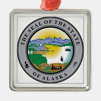 Alaska State Seal Christmas Ornaments