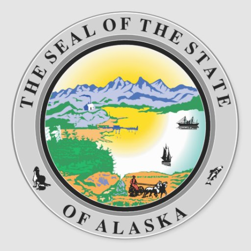 Alaska State Seal Stickers