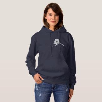 Alaska State White Map Women's Hooded Sweatshirts