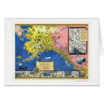 Alaska - Steamship Line Map 1934 Card