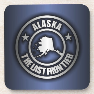 """Alaska Steel"" Cork Coasters (Blue)"